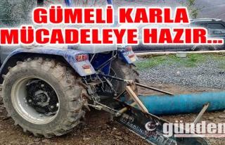 GÜMELİ KARLA MÜCADELEYE HAZIR...