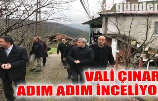 Vali Çınar, adım adım inceliyor