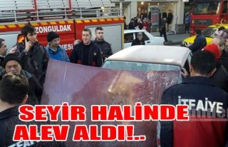 Seyir Halinde Alev Aldı!..