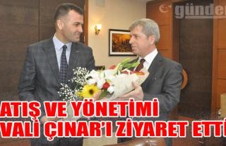Atış ve yönetimi Vali Çınar'ı ziyaret etti