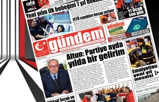 02 Ocak 2018 Gündem Gazetesi