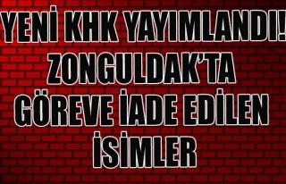 Yeni KHK yayımlandı! Zonguldak'ta göreve iade edilen...