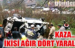 Kaza... İkisi ağır dört yaralı