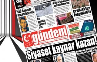 16 Ocak 2018 Gündem Gazetesi