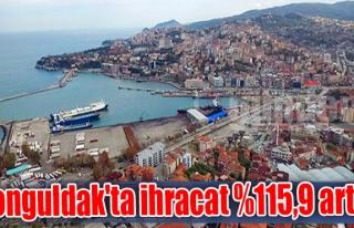 Zonguldak'ta ihracat %115,9 arttı