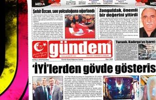 02 Nisan 2018 Gündem Gazetesi