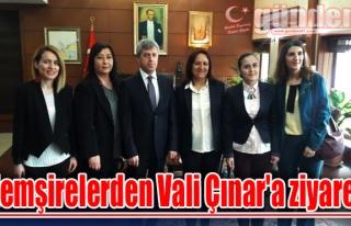 Hemşirelerden Vali Çınar'a ziyaret