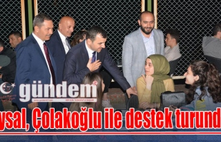 Uysal, Çolakoğlu ile destek turunda