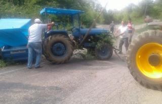 Bartın'da traktörün devrilmesi sonucu 1 Yaralı