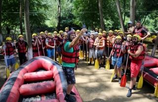Yağmur raftingcilerin yoğun ilgi Odağı Oldu