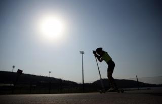 Uluslararası Tekerlekli Kayak Yarışları devam...