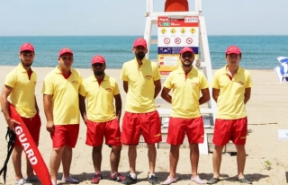 plajlarında 17 kişilik cankurtaran ekibi