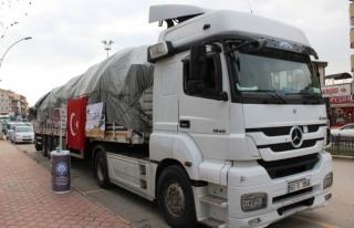 Safranbolu'dan Türkmenlere yardım tırı