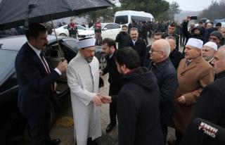 Diyanet İşleri Başkanı Erbaş, Düzce'de cenaze...