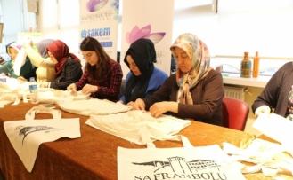 Safranbolu'da bez çantalar kurslarda hazırlanıyor