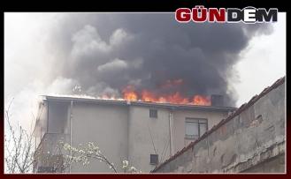 Çatı katı alev alev yandı!..