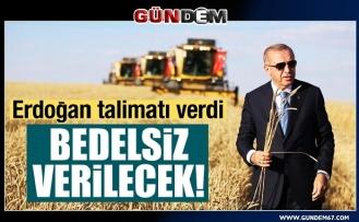 Cumhurbaşkanı Erdoğan talimat verdi! Çiftçiye hazineden ücretsiz arazi verilecek