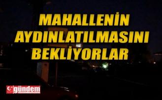 ALAPLILI VATANDAŞ MAHALLELERİNİN AYDINLATILMASINI BEKLİYOR