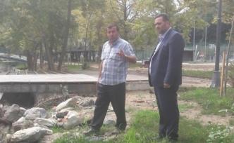 Başkan Yanmaz'dan 15 Temmuz parkına inceleme