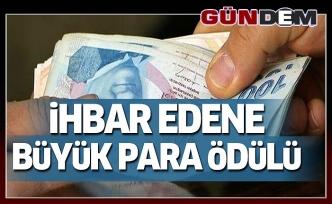 İhbar Edene Büyük Para Ödülü!..