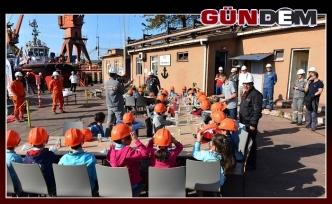 Erdemir Limanı'nda öğrencilerle tatbikat!..