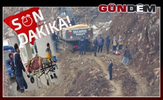 Toprak kayması sonucu 1 işçi yaralandı