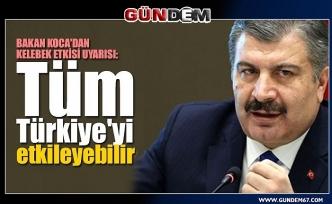 Bakan Koca'dan 'Kelebek Etkisi' uyarısı: Tüm Türkiye'yi etkileyebilir