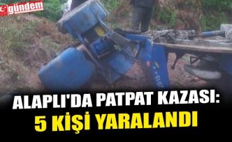 ALAPLI'DA PATPAT KAZASI: 5 KİŞİ YARALANDI