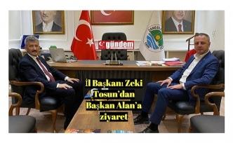 İl Başkanı Zeki Tosun'dan Başkan Alan'a ziyaret