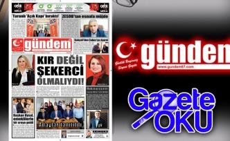 24 Mayıs 2018 Gündem Gazetesi