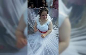 Down sendromlu kıza damatsız düğün!
