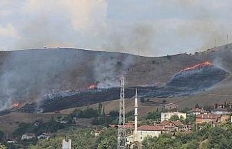 Karabük'te korkutan anız yangını
