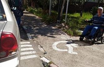 Engellilere engel olan sürücülere tepki!