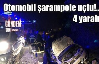 Otomobil şarampole uçtu!..4 yaralı