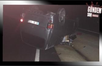 Ereğli-Zonguldak yolunda kaza...