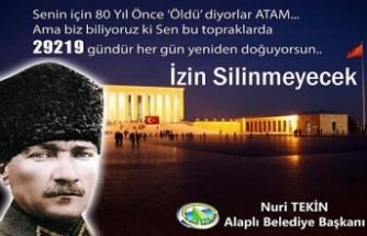 NURİ TEKİN'İN 10 KASIM MESAJI...