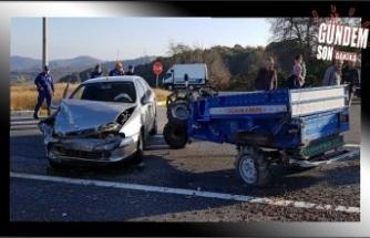 Patpat otomobille çarpıştı, 1 yaralı
