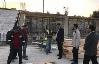 Rektör Polat, inşaat alanlarındaki çalışmaları yerinde inceledi