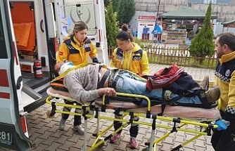 Yük treni yayaya çarptı: 1 yaralı