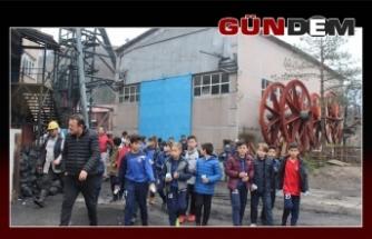 Zonguldakspor'un minik yıldızları madende