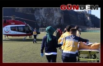 112 helikopteri hasta Uzunay için havalandı!..