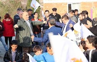 Erol Şahin'e Akpınar'da sıcak karşılama