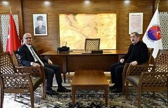 Kardemir A.Ş'nin Yeni Genel Müdürü Soykan'dan Başkan Vergili'ye ziyaret