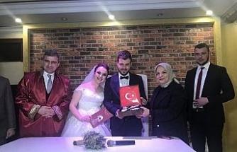 Türkgülü ve Saldık ailelerinin mutlu günü