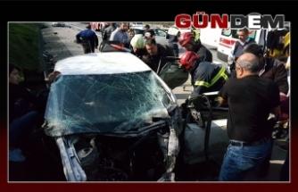 Yasak dönüş kaza getirdi: 7 yaralı
