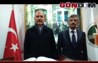 Bakan Süleyman Soylu'dan Vali Bektaş'a ziyaret
