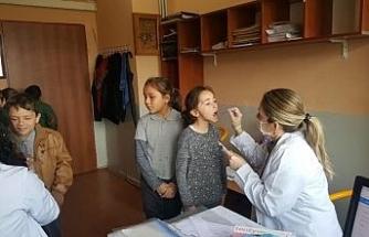 Düzce'de okullarda ağız ve diş sağlığı taraması yapıldı