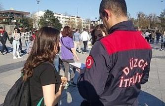"""İtfaiye Müdürü Polat """"Eğitimle vaka sayısı azalıyor"""""""