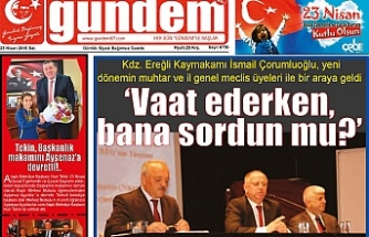 23 Nisan 2019 Salı Gündem Gazetesi