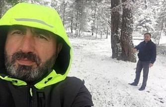 Karabük'ün Nisan ayında kar sürprizi